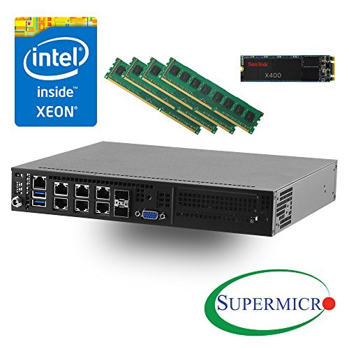 Supermicro SYS-E300-8D Intel Xeon D-1518 デュ...