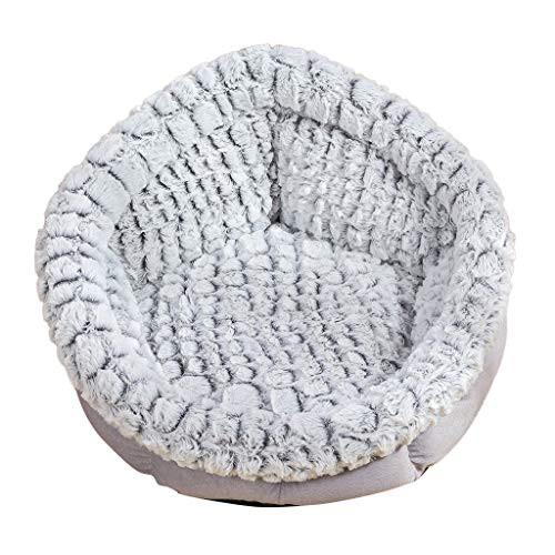 犬ラウンド猫冬暖かい寝袋豪華な柔らかいペットベ...