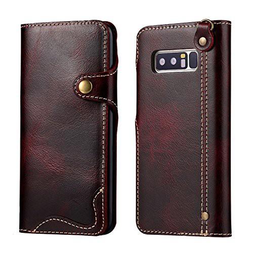 Samsung Galaxy Note8 ケース 最高級 本革 ( 牛革...