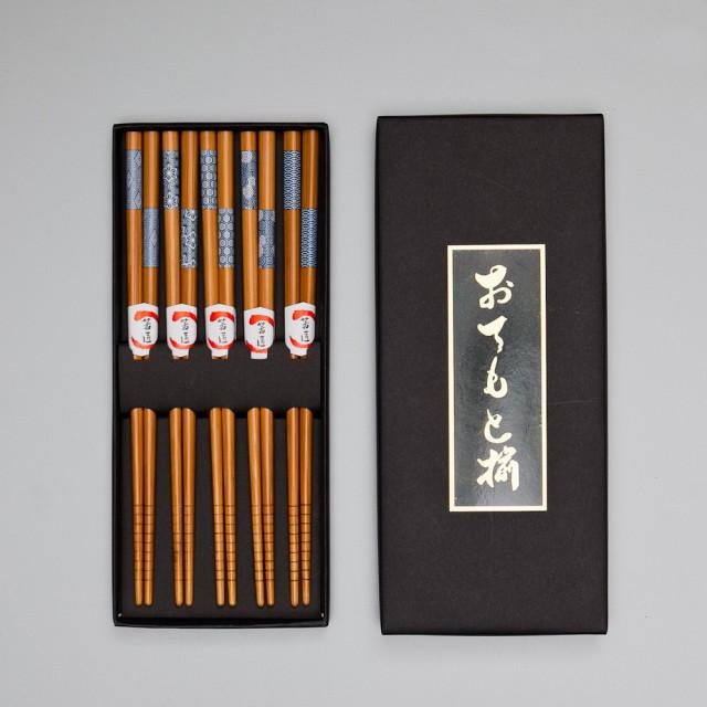天然竹製 箸 5膳セット 市松小紋 ギフトBOX入...