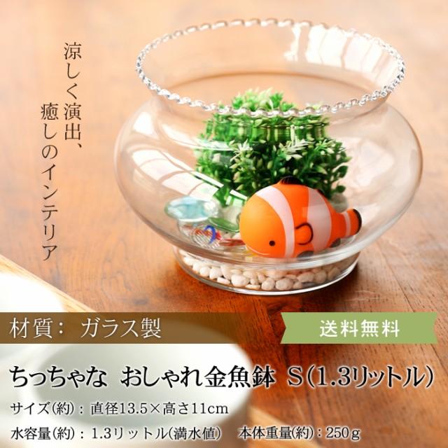 ちっちゃな おしゃれ金魚鉢 ガラスクリアー S...