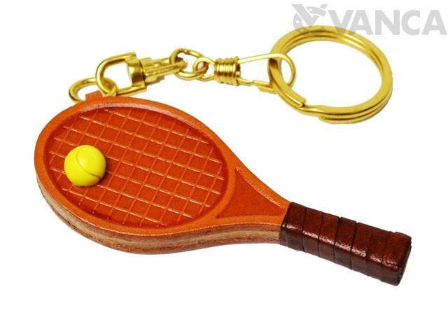 テニスラケット キーホルダー/レザー 本革 VANCA/...