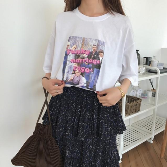 原宿系 ビビッド 古着系 おしゃれ Tシャツ ...