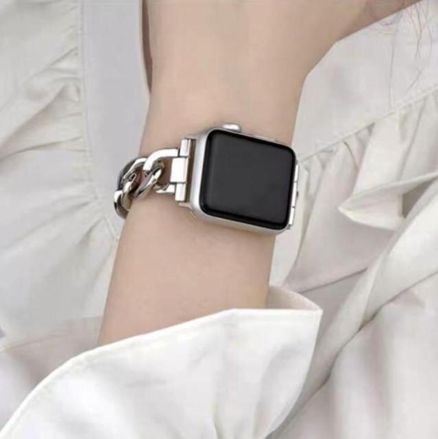 送料無料:Apple Watch チェーンベルト 38mm/40mm...