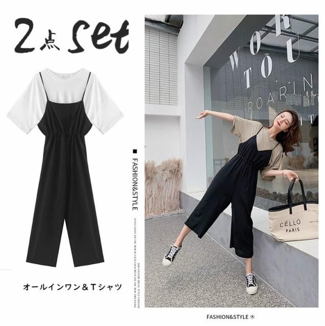 2019夏☆レディース オールインワン Tシャツ +...