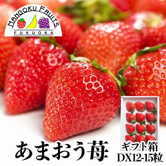 南国フルーツ【予約販売】福岡産あまおう苺12-15粒ギフト箱