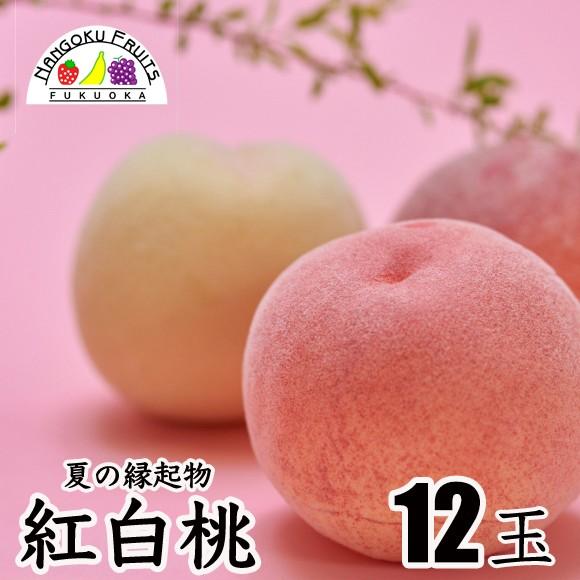 南国フルーツ 紅白桃 12玉
