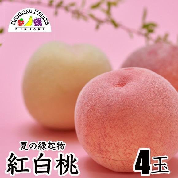 南国フルーツ 紅白桃 4玉