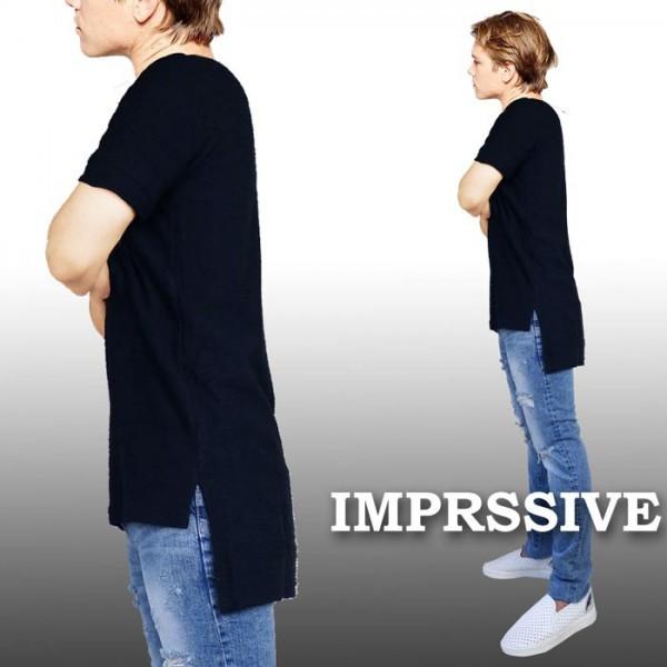ブラック Tシャツ オーバーサイズ Tシャツ  Imprs...