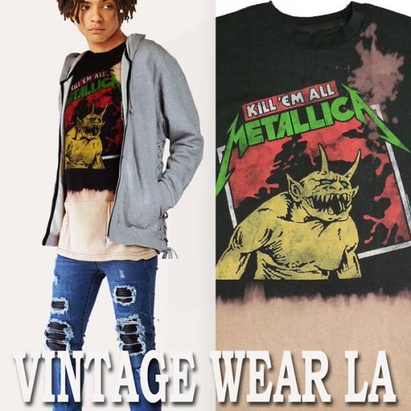ロックtシャツ ヴィンテージ VINTAGE WEAR LA メ...