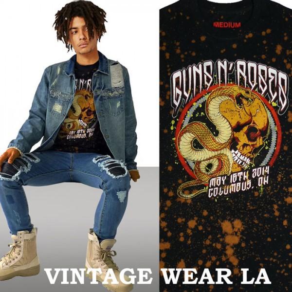 ロックtシャツ VINTAGE WEAR LA カンズアンドロー...