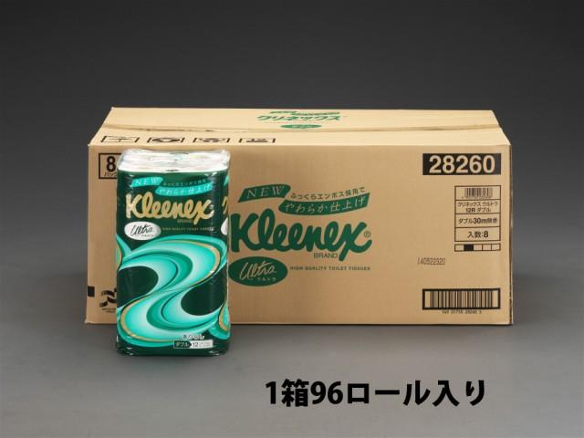エスコ ESCO トイレットペーパー ダブル/96巻 EA9...