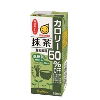 マルサン 豆乳飲料 抹茶 カロリー50%オフ 200ml ...