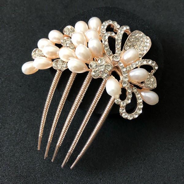 髪飾り かんざし 結婚式 コーム ヘアアクセサリー 花嫁 留袖 黒留袖