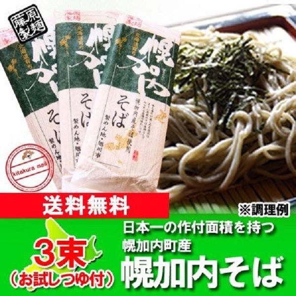 送料無料 蕎麦 乾麺 幌加内 そば 乾麺  250g×3束...