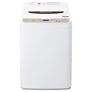 シャープ SHARP 全自動洗濯機 [洗濯6.0kg] ES−GE6D−T ブラウン系(標準設置無料)