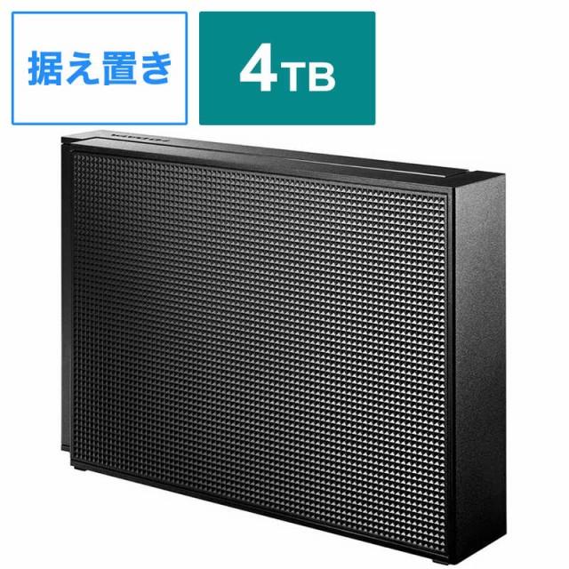 IOデータ 外付けHDD ブラック [据え置き型 /4TB]...