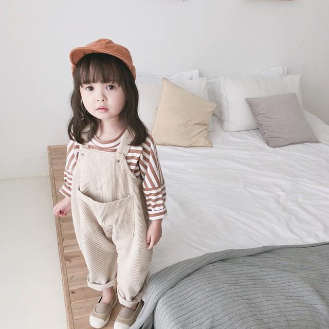 コーデュロイサロペット 韓国子供服