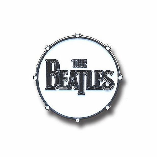 BEATLES ビートルズ - メタル・ピンバッジ DRUM L...