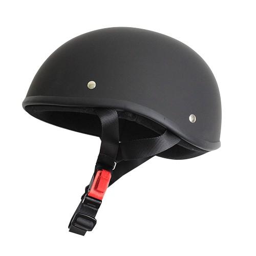 ハーフタイプ ダックテールヘルメット マットブラ...