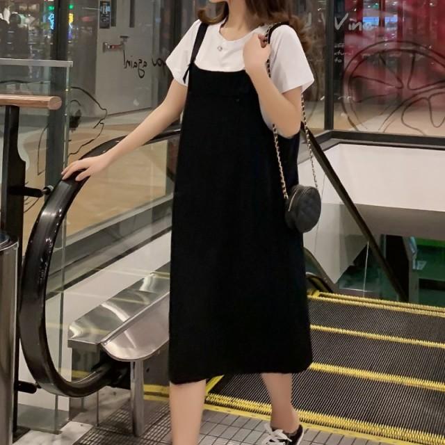 マタニティ ジャンパースカート 夏 スーツ ドレス...