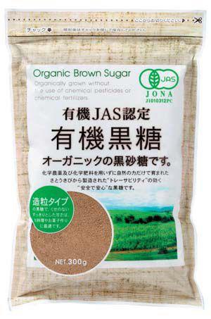 上野砂糖 有機黒糖 300g 1袋 [有機砂糖 黒砂糖 シ...