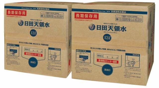日田天領水 長期保存用 12L バッグインボックス 2...
