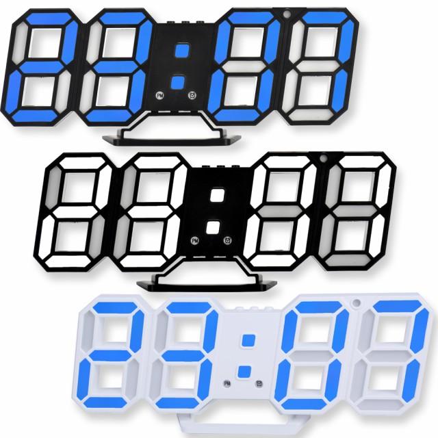 3D LED デジタル時計 ウォールクロック 置き時計 ...