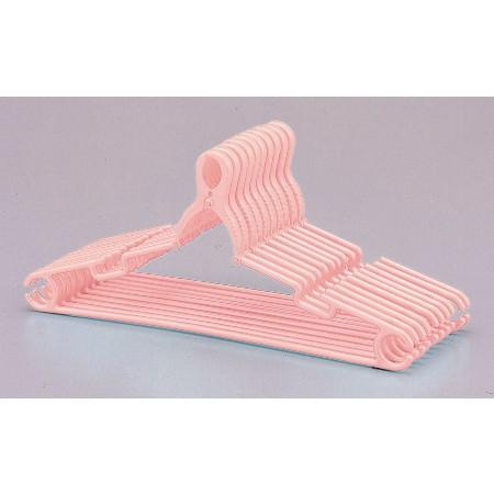 ジャンボクリップハンガー10本組ピンク