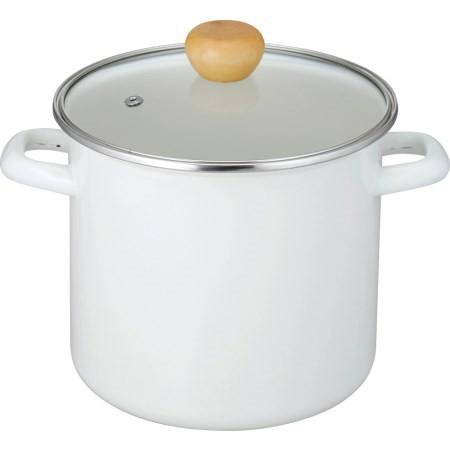 カレー&パスタ ホーロー深型鍋 18cm