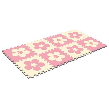 ジョイントマット パズルマット 8枚入 花柄(30cm...