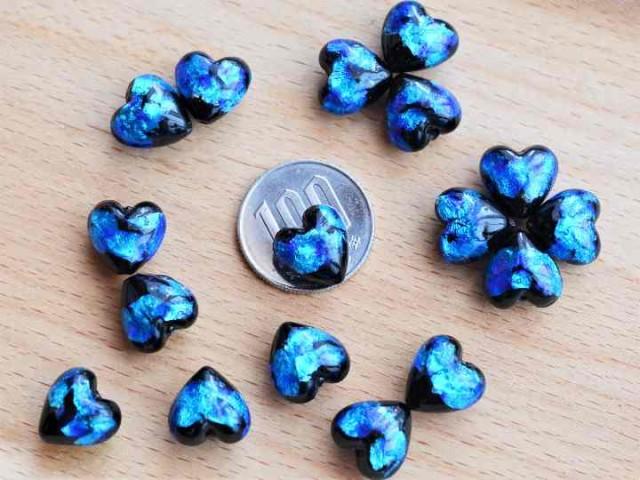 蓄光ホタル石 ホタルガラス ハート10ミリ 1粒