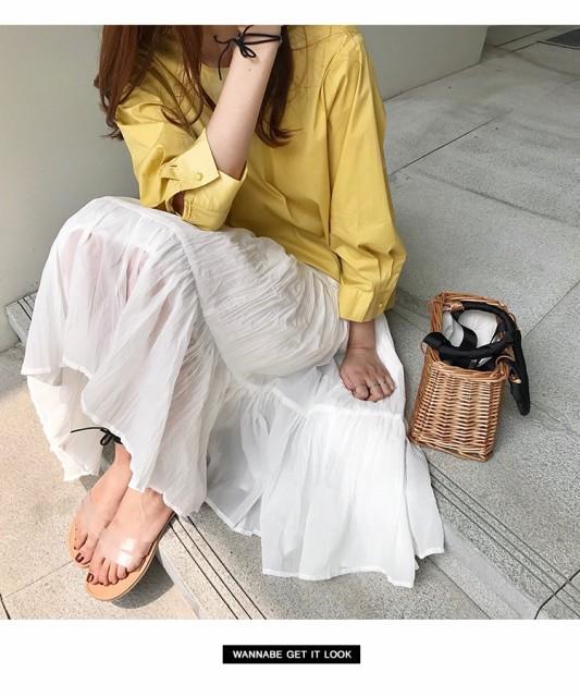 シャツ+白スカート ツーピース【お取り寄せ】
