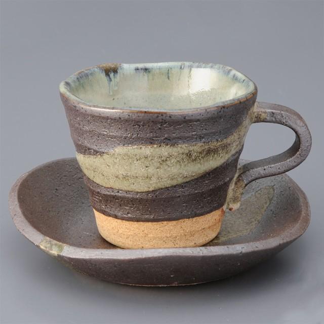 コーヒーカップ ソーサー 碗皿/ 黒銀彩 コーヒーC...