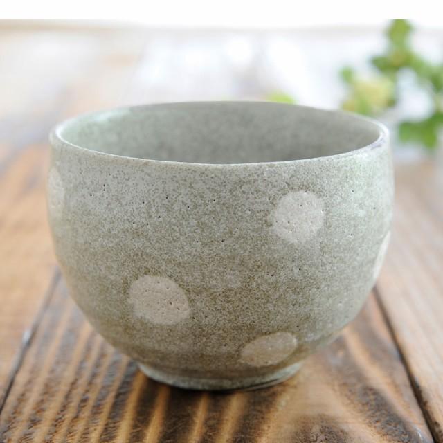 湯呑 いっぷく碗/ 水玉 ゆったり碗 /日本茶 抹茶 ...