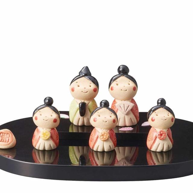 雛人形 コンパクト 陶器 小さい 可愛い ひな人形 ...