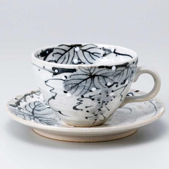 コーヒーカップ&ソーサー 珈琲碗皿 陶器/ ぶどう...