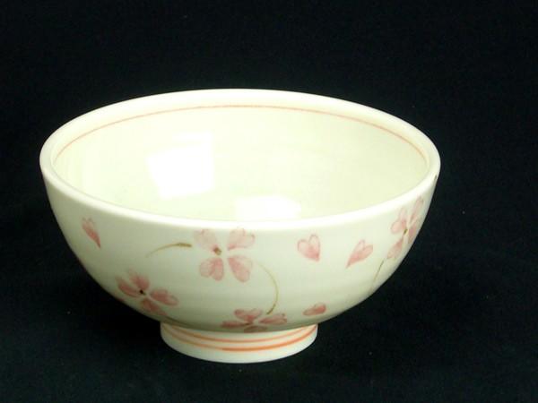 軽量茶碗 クローバー ピンク 中平