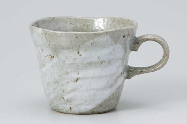 マグカップ コップ コーヒー/ 粉引青釉反型コーヒ...