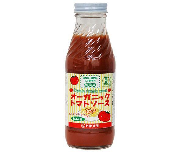 送料無料 光食品 オーガニック トマトソース あっさりトマト味 365g瓶×20本入