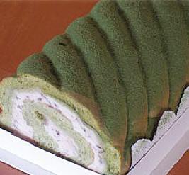 「茶句庭ながの」抹茶ロールケーキ 23cm