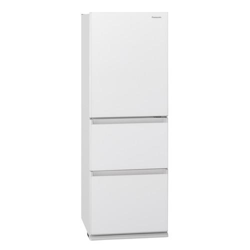 【無料長期保証】パナソニック NR-C342GC-W 3ドアスリム冷凍冷蔵庫 (335L・右開き) スノーホワイト