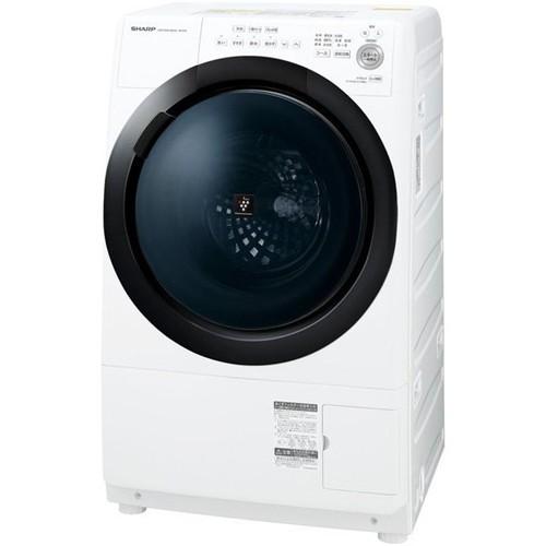 【無料長期保証】洗濯機 シャープ ドラム式 7KG ES-S7E-WR ドラム式プラズマクラスター洗濯乾燥機 (洗濯7kg/乾燥3.5kg 右開き) ホワイト