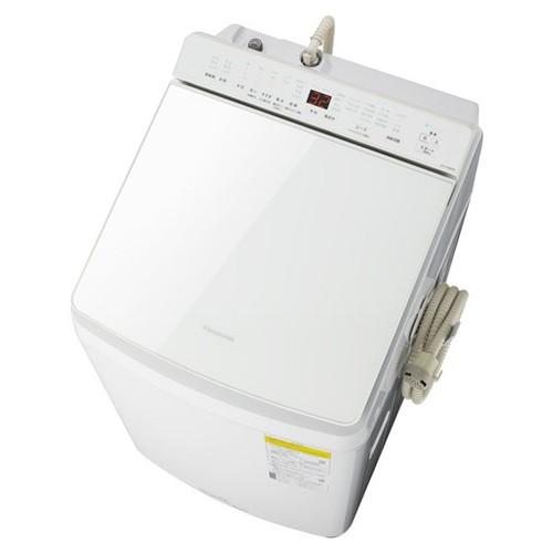 【無料長期保証】パナソニック NA-FW80K8-W 縦型洗濯乾燥機 (洗濯8kg・乾燥4.5kg) 泡洗浄 ホワイト