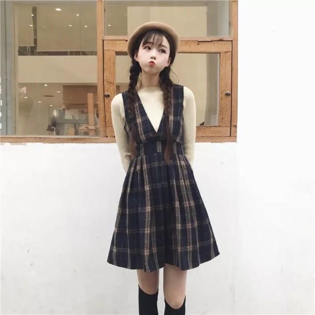 【送料無料】 レトロ  チェック柄 ノースリーブカ...