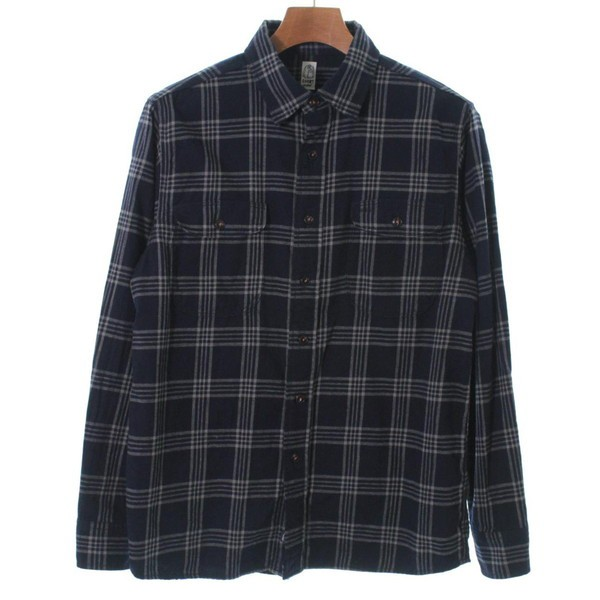 KATO`  / カトー メンズ シャツ 色:紺系xグレー...