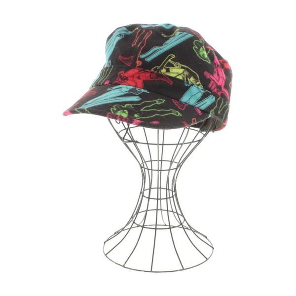 CA4LA  / カシラ レディース 帽子 色:黒xピンク...