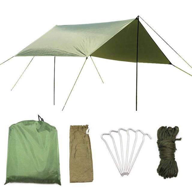 AUWOO 防水タープ 紫外線カット UVカット タープ 3m サンシェード 軽量 コンパクト 天幕シェード 運動会 キャンプ アウトドア