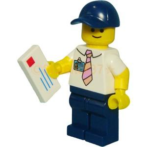 レゴ LEGO ミニフィグ シティ 人形:郵便局員さん...