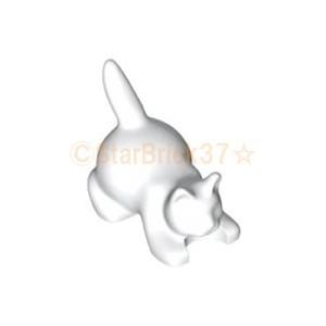 レゴ LEGO パーツ 動物 ばら売り 猫:ホワイト